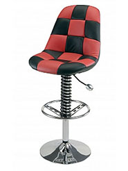 PitStop™ Pit Crew Bar Chair - Black & Red